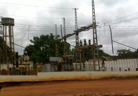 Une installation de l'ENERCA à Bangui (Photo RJDH)