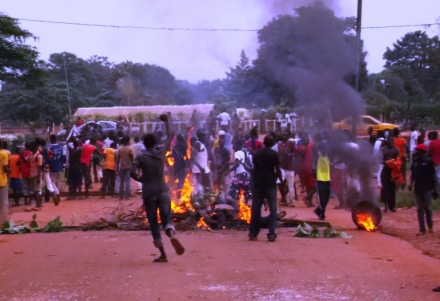 Les manifestants du 4e arrondissement de Bangui (Photo RJDH)